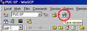 tela do WinSCP FTP